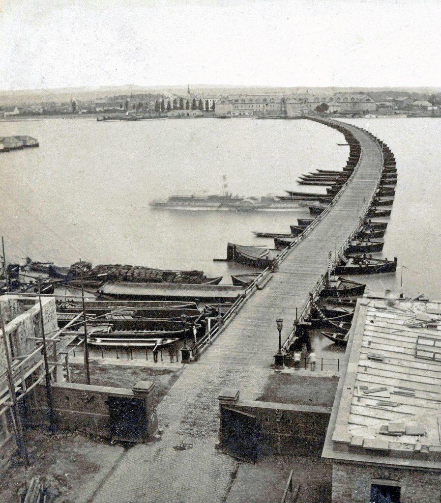 Die Mainzer Schiffsbrücke 1870