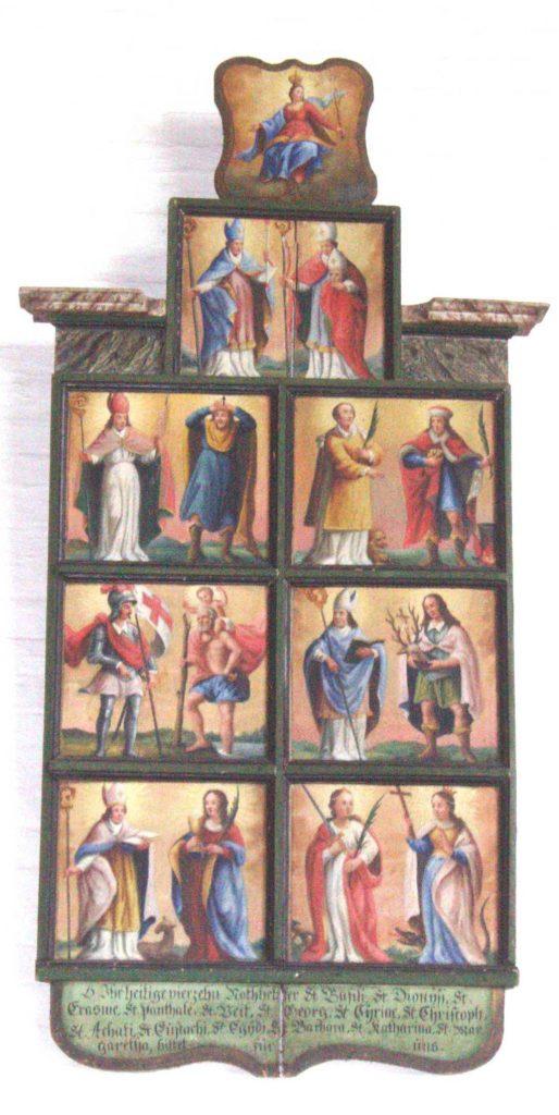 Die 14 Nothelfer in der barocken Kirche von Eitensheim