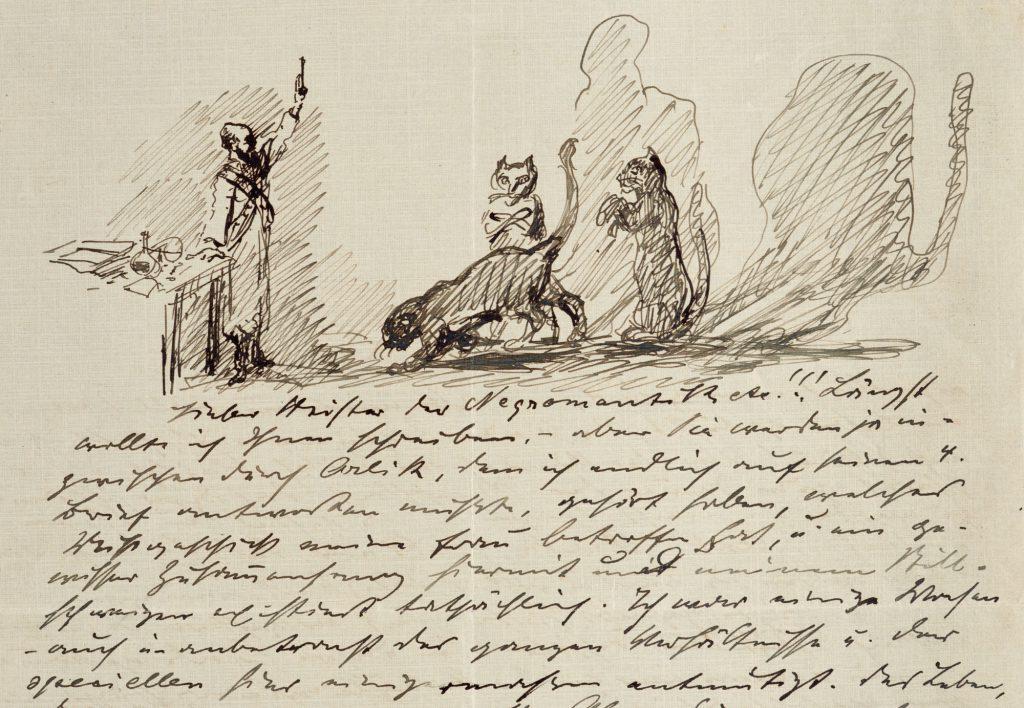 Brief Slevogts  © GDKE RLP, Landesmuseum Mainz, Foto: Ralph Steffens