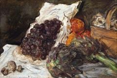 Stillleben mit Weintrauben und Artischocken, Max Slevogt  © GDKE
