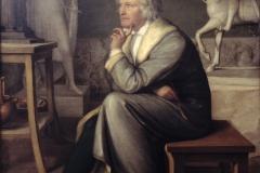 Das Original: Thorwaldsen in seiner Werkstatt, gemalt von Eduard v. Heuß