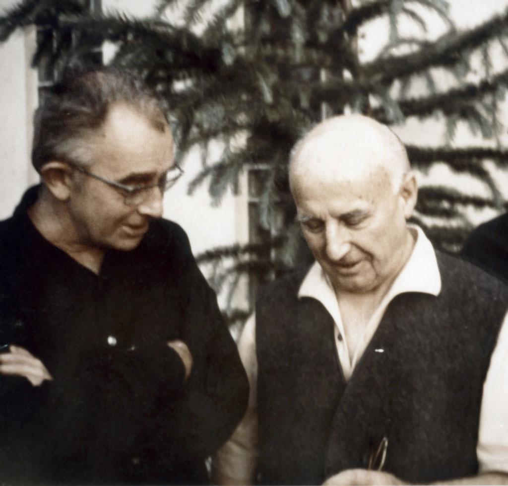 Jakob Wilhelm Hinder und Walter Popp 1971 in Deidesheim © Archiv Lotte Reimers-Stiftung