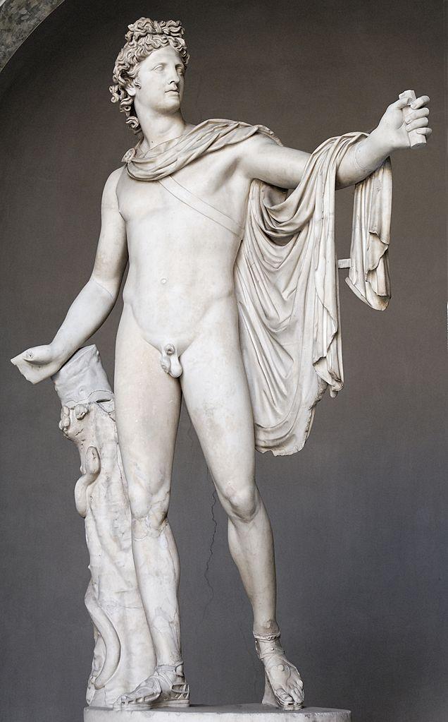 Antike Marmorstatue, Apoll von Belvedere, Vatikanische Museen