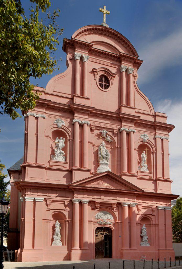 Fassade von St. Ignaz in Mainz, fertiggestellt 1775