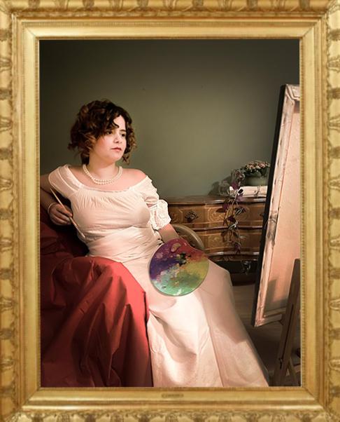 Elena posiert als Therese Wohlgemuth © Florine Jäger