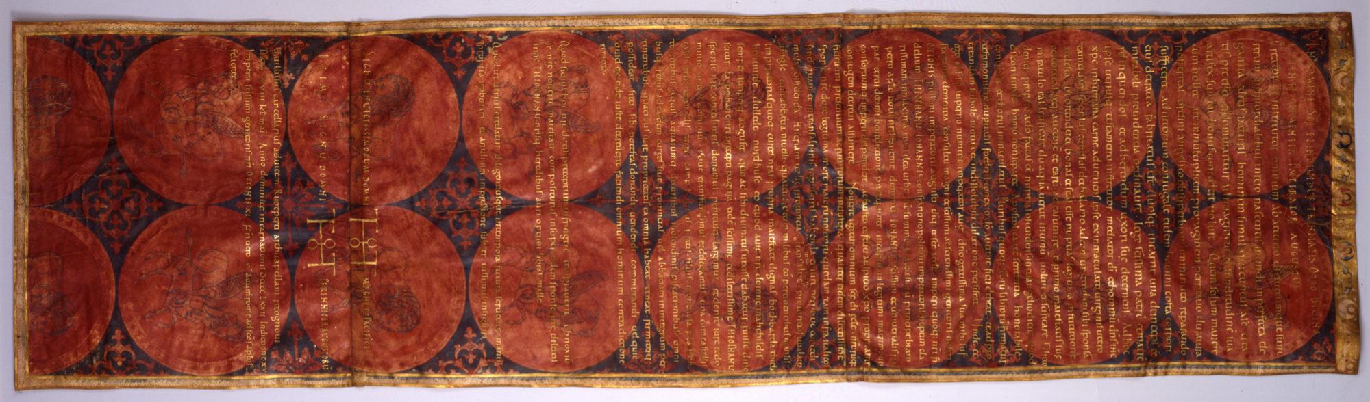Sogenannte Heiratsurkunde der Kaiserin Theophanu, 972 ©Wolfenbüttel, Niedersächsisches Landesarchiv –Abteilung Wolfenbüttel, 6Urk Nr. 11