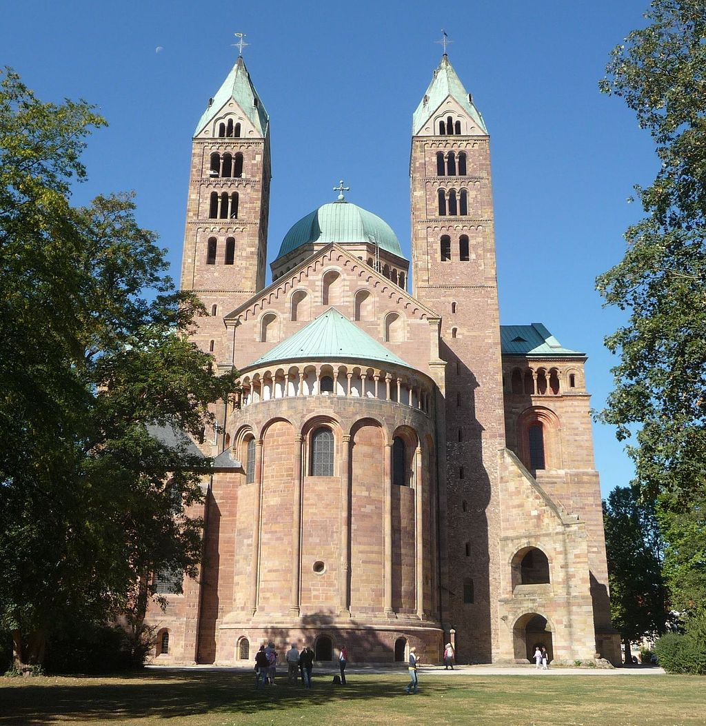 Speyerer Dom, Ansicht vom Osten, © Wiki Commons