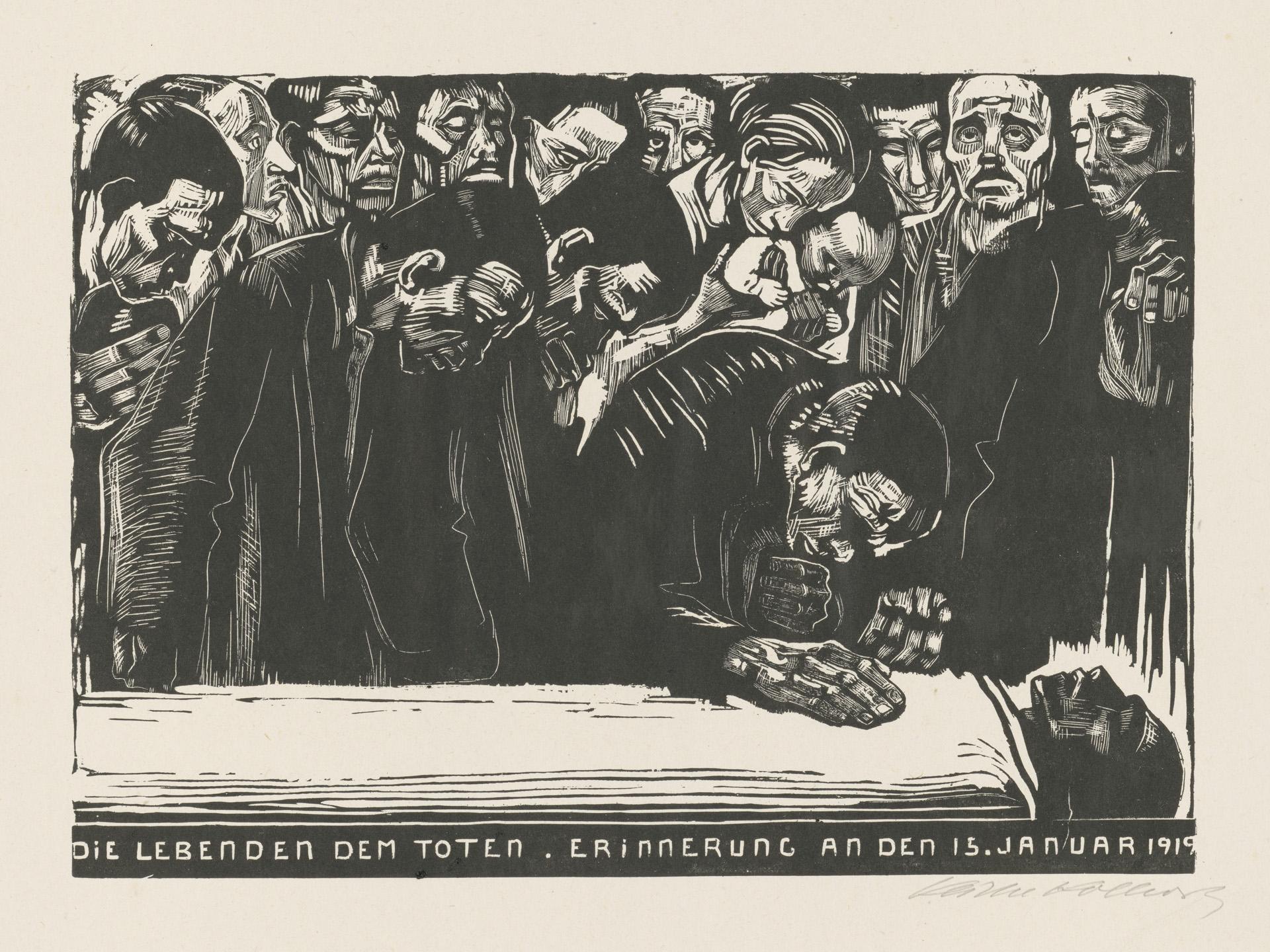 Käthe Kollwitz, Gedenkblatt für Karl Liebknecht, 1920 © Käthe Kollwitz Museum Köln